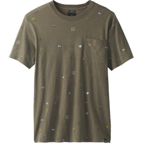 Prana Auxi T-shirt slim à col ras-du-cou Homme, slate green